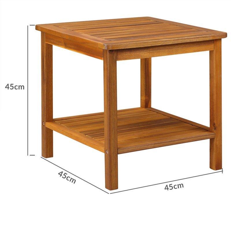 Meble Ogrodowe Z Drewna Akacjowego Opinie : Elegancki stolik wykonany z drewna akacjowego odpornego na warunki